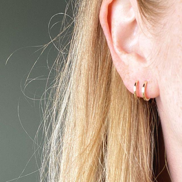 Earrings Double Sleek